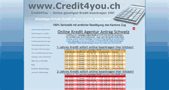 Preview of credit4you.ch