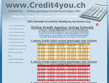 Tablet Preview of credit4you.ch